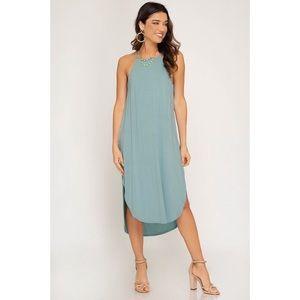 Heather Cami Midi Dress - Seafoam